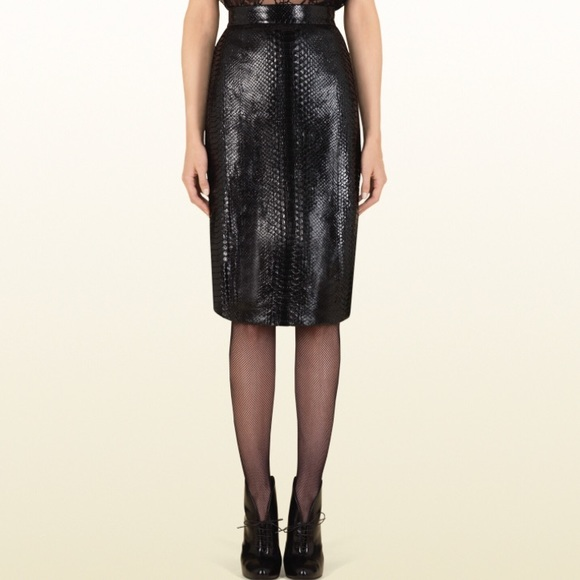 9ac9eee4e Gucci Skirts | Python Skirt Sz 38 | Poshmark